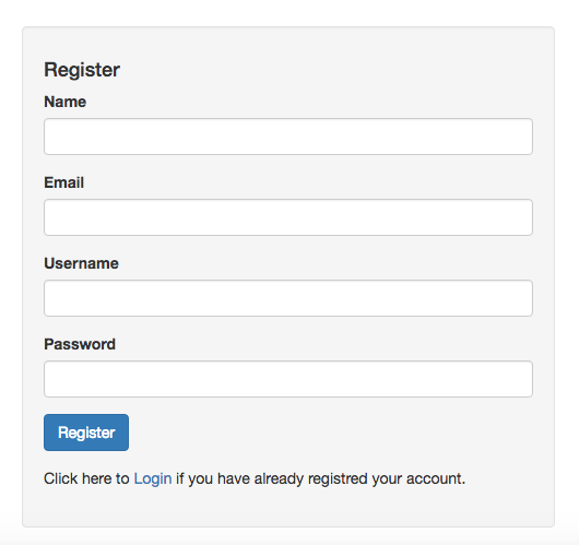 Multi Factor authentication Registration page