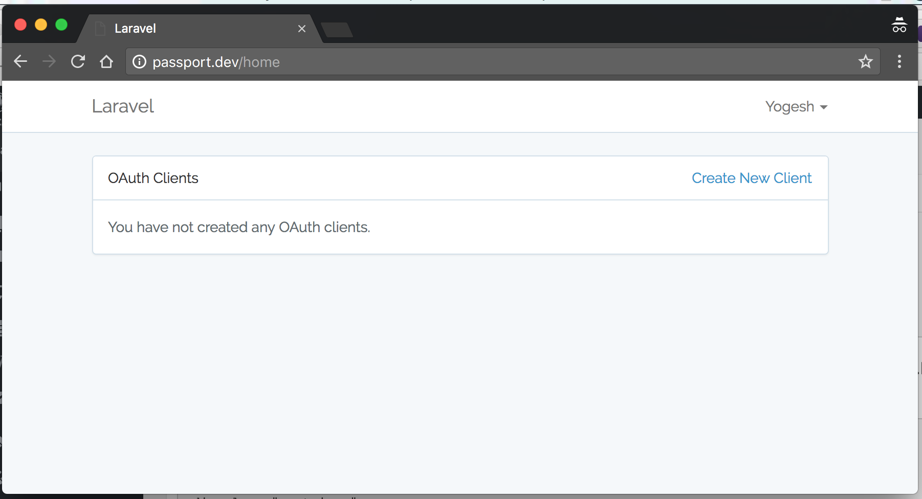 OAuth Clients Component loaded