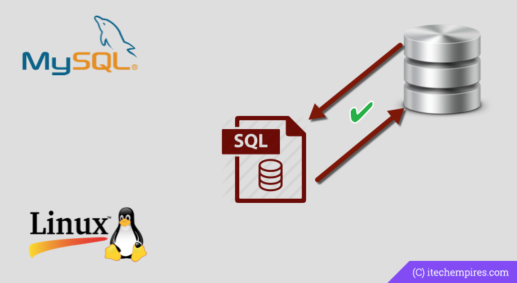 MySQL Database Backup and Restore from Terminal - iTech