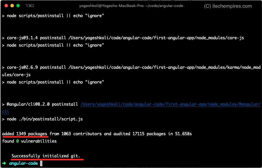 Angular 8 Project Created