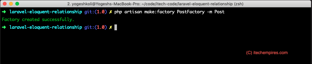 Create Database Factory