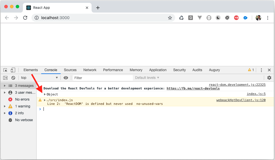 Browser Console to check console output