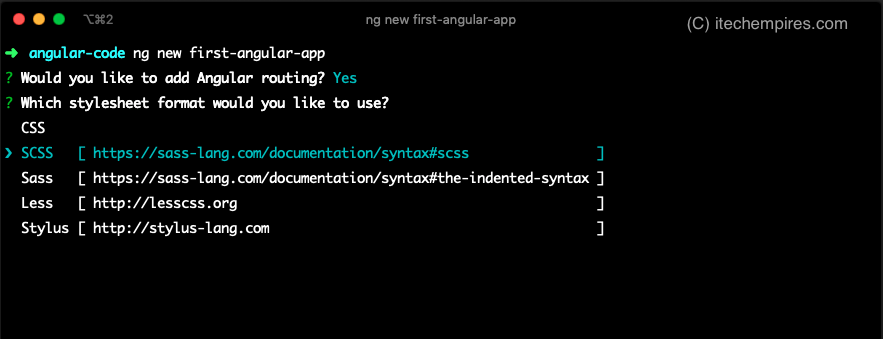 Select Stylesheet for Angular App