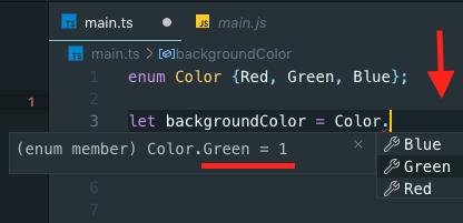TypeScript enum variable Example