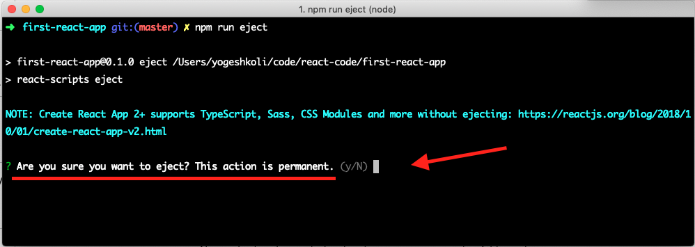 Eject Command Confirmation